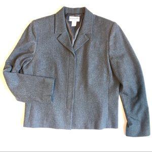 PENDLETON 100% virgin wool gray blazer jacket 14